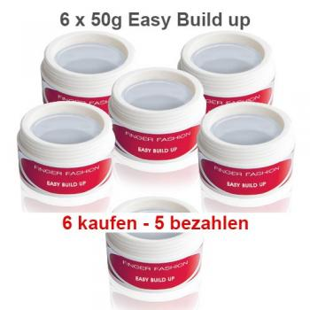 Easy Build Up Gel, 5 x 50g