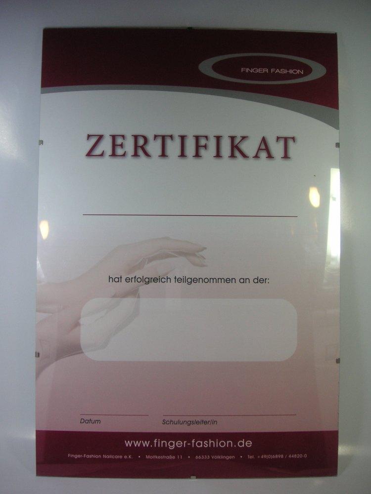 Bilderrahmen F Zertifikat 30x45cm Finger Fashion
